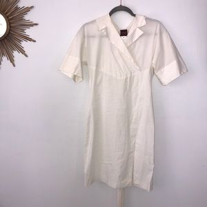 KENZO Cream White Slim Fit Dress